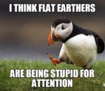 I Think Flat Earthers...