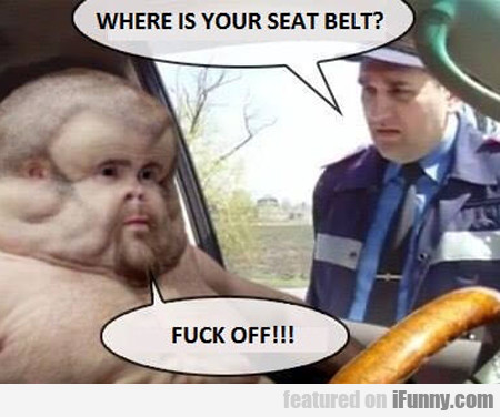 where is your seatbelt?