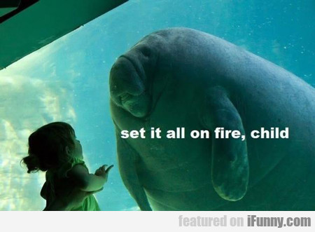 set it all on fire child...