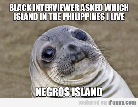 Black Interviewer Asked Which Island In The....