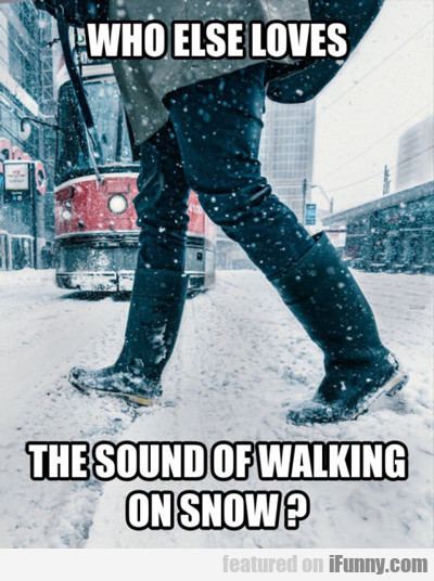 Who Else Likes The Sound Of Snow...