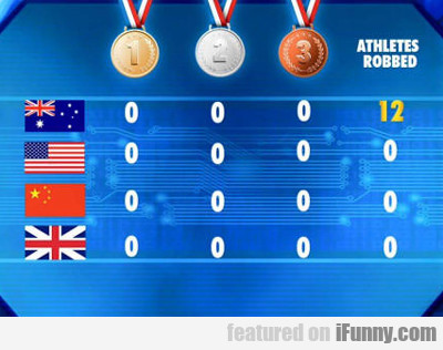 Athletes Robbed...