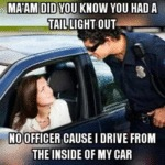 Ma'am, Did You Know You Have A Taillight Out...