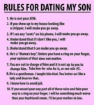 Some Rules For Dating My Son