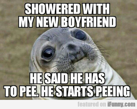 Showered With My Mew Boyfriend...