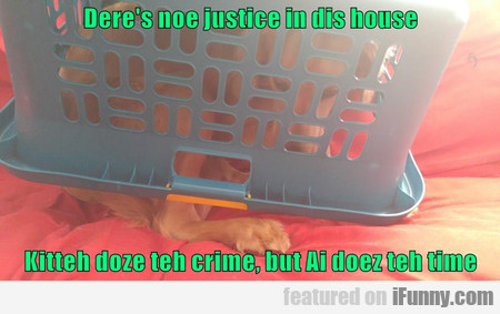 Dere's Noe Justice In Dis House