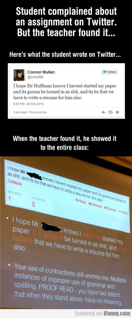 Student Complained About An Assignment On Twitter