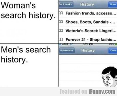 Woman's Search History...