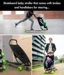Skateboard Baby Stroller That Comes With Brakes