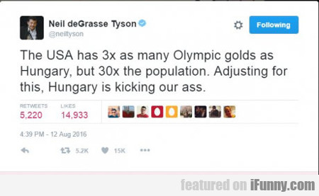 The Usa Has Six Times As Many Olympic Golds...