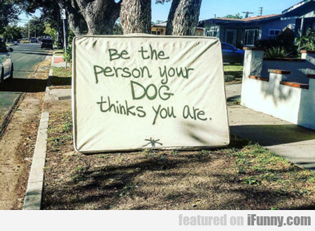 Be The Person That Your Dog Thinks You Are...