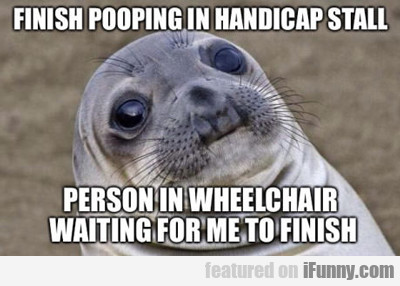 Finish Pooping In Stall...