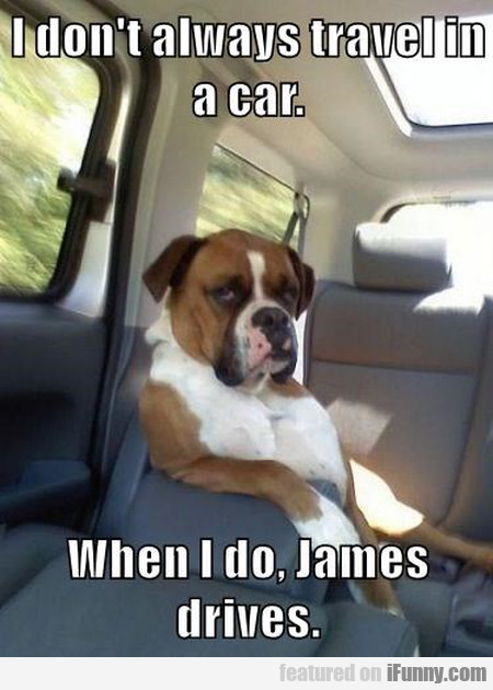 I Don't Always Travel In A Car