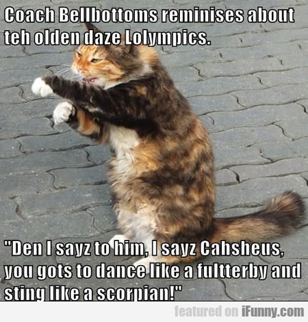 Coach Bellbottoms Reminises About Teh Olden Daze