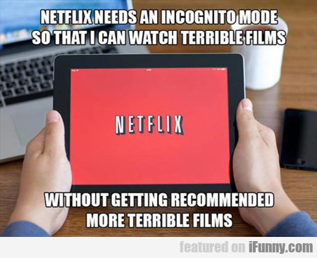 Netflix Needs An Icognito Mode...