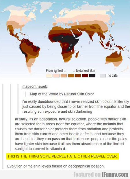 Map Of The World By Skin Color
