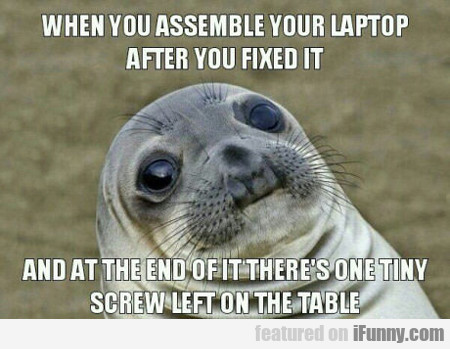 When You Assemble Your Laptop...