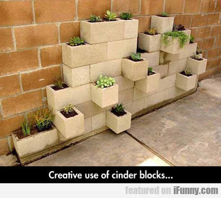 Clever Way To Use Cinder Blocks...