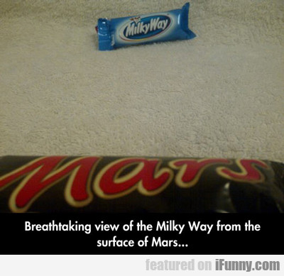 view the milky way from mars...