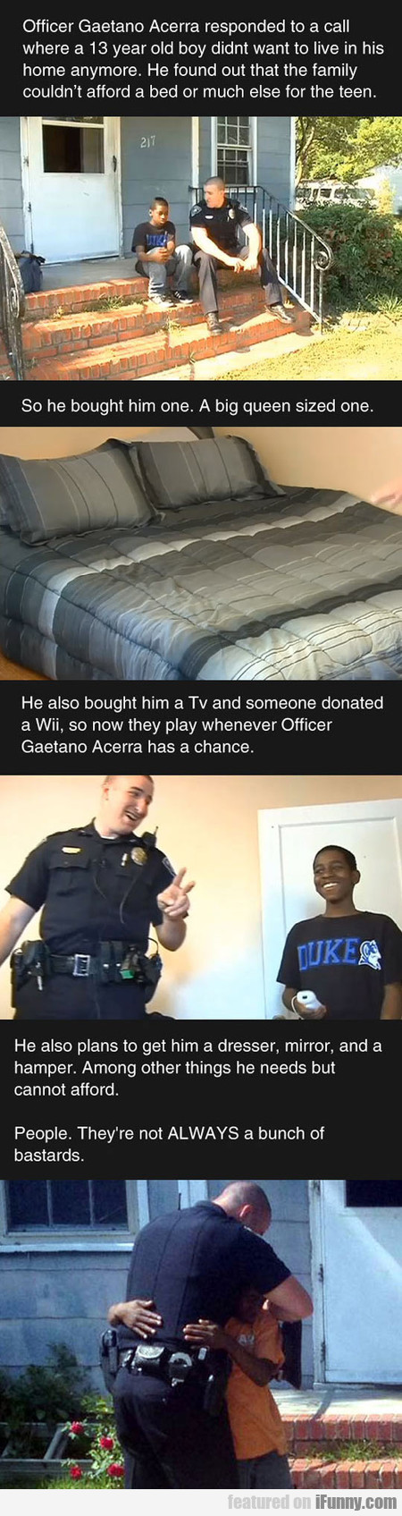 Officer Gaetano Acerra Responded To A Call