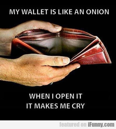 My Wallet Is Like An Onion...