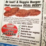 At Last, A Veggie Burger That Contains All Beef...