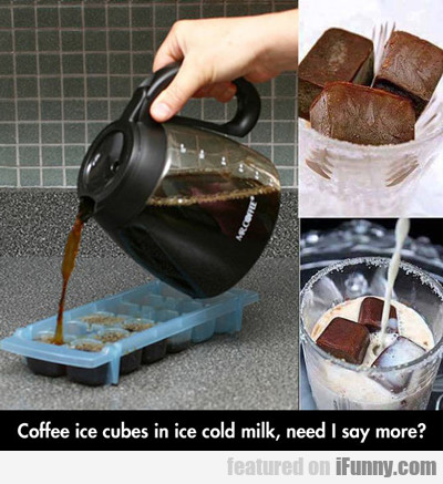 Coffee Ice Cubes...