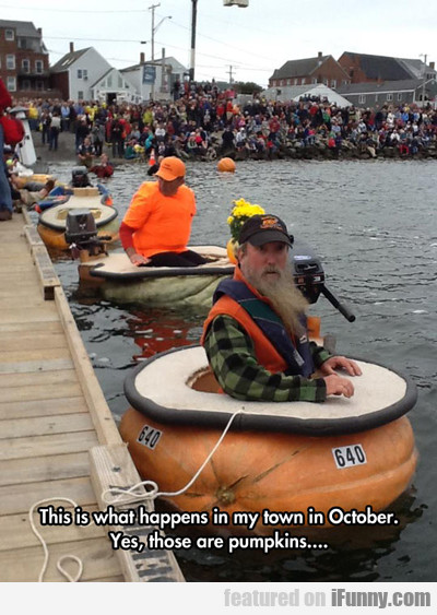 Pumpkin Boats Races...