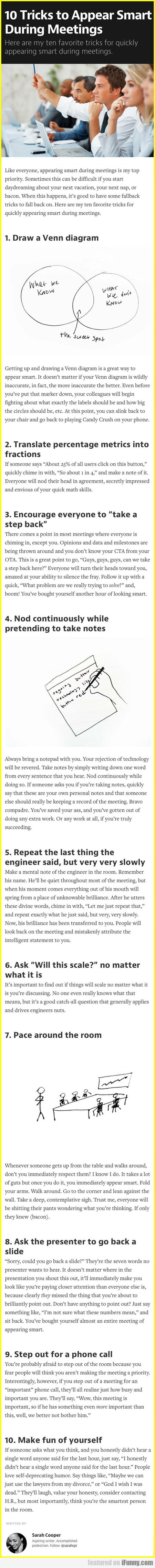 10 Tricks To Appear Smart