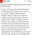 The Official Response Regarding Our Sponsorship