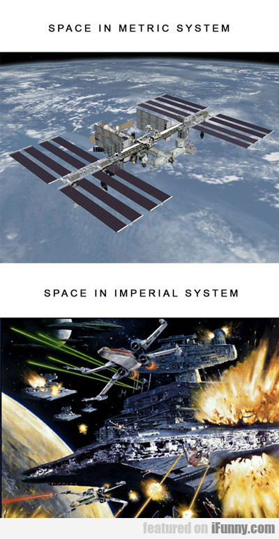 Space In Metric System Vs Imperial System...