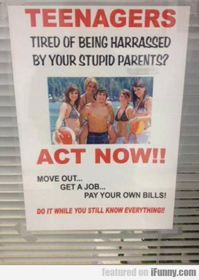 Teenagers Act Now...