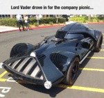Darth Vader Drove To The Company Picnic...