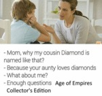 Why My Cousin Diamond Named That?