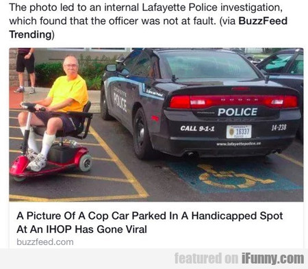 The photo led to an internal Lafayette Police...