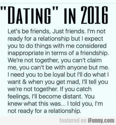 dating in 2016...