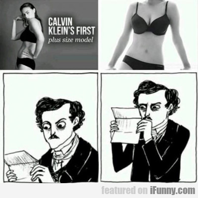 Calvin Kleins First Plus Sized Model...
