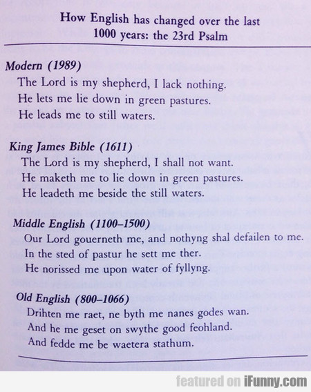 How English Has Changed Over The Last 1000 Years