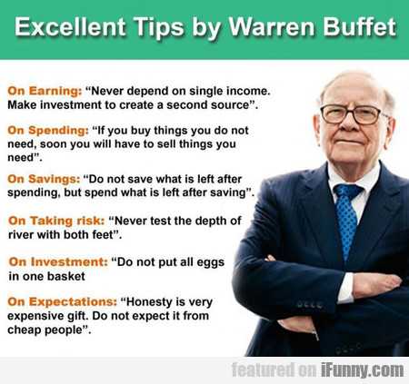 Excellent Tips By Warren Buffet