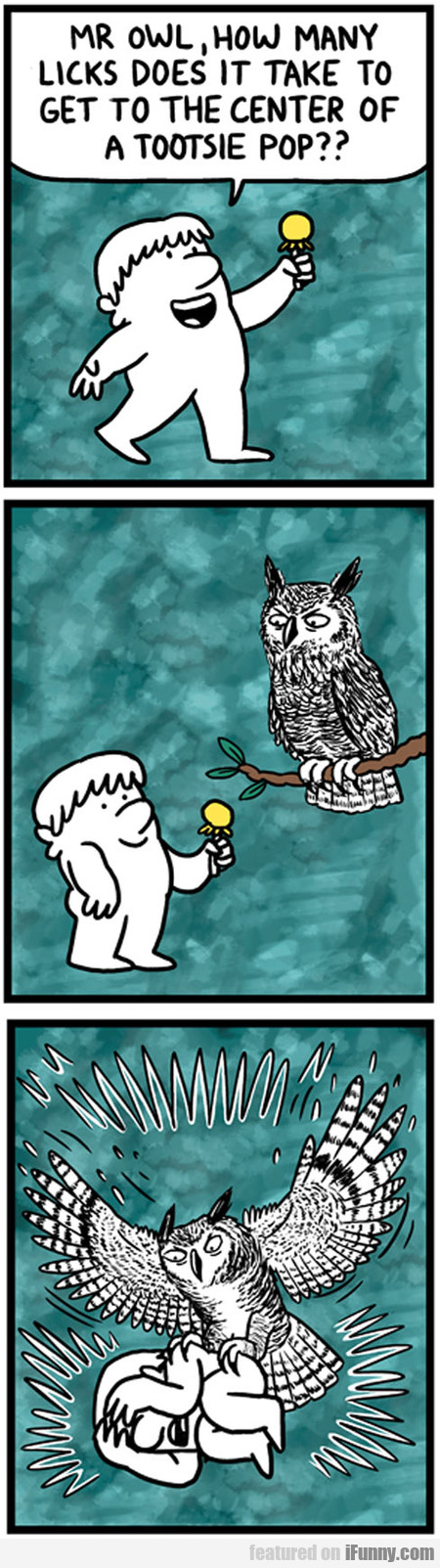 Mr Owl, How Many Licks Does It Take To Get To...
