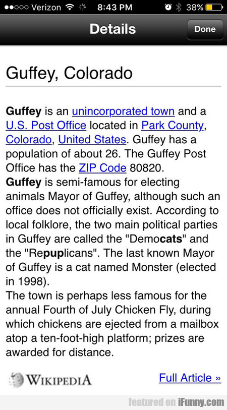 Guffey, Colorado