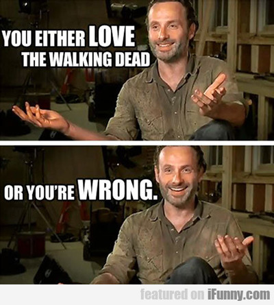 You Either Love The Walking Dead...