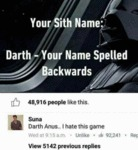 You Sith Name...