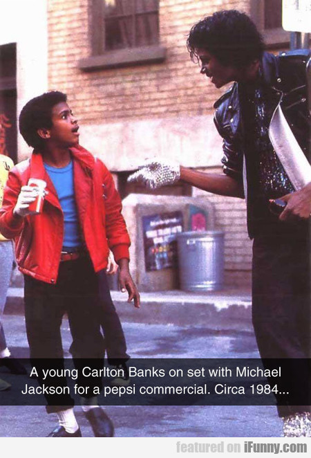 A Young Carlton Banks On Set With Michael Jackson