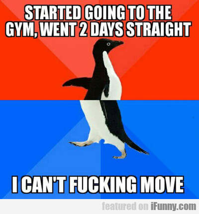 started going to the gym...