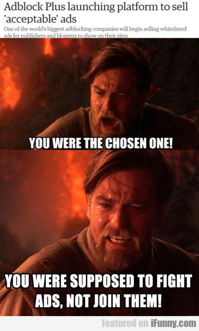 You Were The Chosen One...