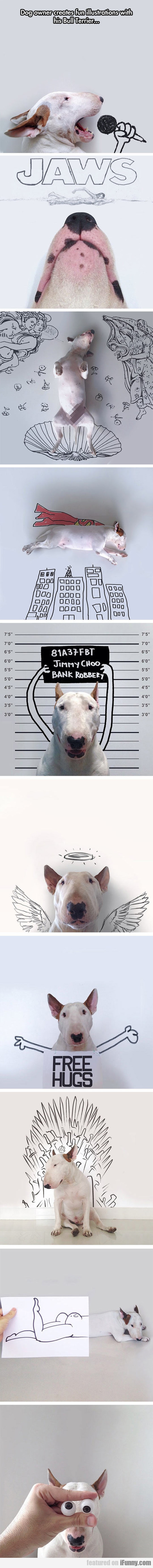 Dog Owner Creates Fun Illustrations With His Dog