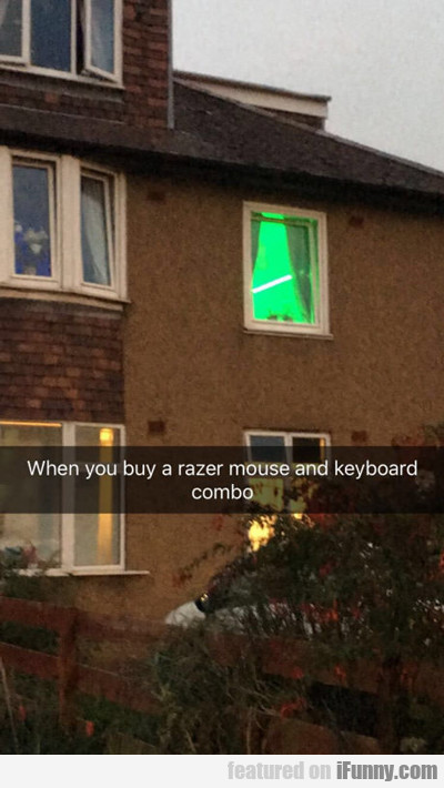 When You Buy A Razer...