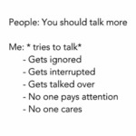 People: You Should Talk More...