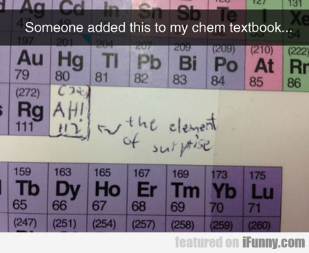 Somebody Added This To My Chemistry Textbook...